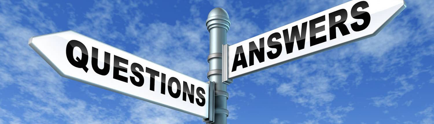 signpost with questions and answers